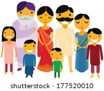 happy large indian family | Shutterstock .eps vector #177520010