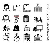 delivery icons set   black