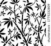 vector black and white bamboo... | Shutterstock .eps vector #1775232809