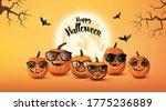 happy halloween greeting banner ... | Shutterstock .eps vector #1775236889