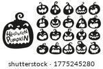 cartoon halloween pumpkin. the... | Shutterstock .eps vector #1775245280