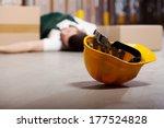 dangerous accident in warehouse ...   Shutterstock . vector #177524828