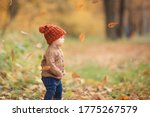 Cute Baby In Autumn Clothes...