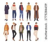 collection of young men dressed ...   Shutterstock .eps vector #1775286659