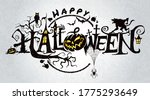 happy halloween vector... | Shutterstock .eps vector #1775293649