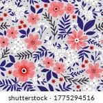 vintage floral background.... | Shutterstock .eps vector #1775294516