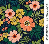 amazing seamless floral pattern ... | Shutterstock .eps vector #1775296646