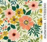 elegant floral pattern in small ... | Shutterstock .eps vector #1775302343