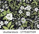 vintage floral background.... | Shutterstock .eps vector #1775307539