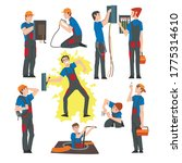 male electrical engineers...   Shutterstock .eps vector #1775314610