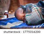 African child toddler sick with ...
