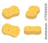 set of sponge icon isolated on...   Shutterstock .eps vector #1775324219