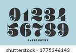 number font. font of numbers in ... | Shutterstock . vector #1775346143