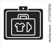 baggage check black glyph icon. ...
