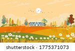 autumn landscaps with fram...   Shutterstock .eps vector #1775371073