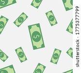 dollars pattern on a white... | Shutterstock .eps vector #1775377799