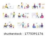 office management scenes bundle ... | Shutterstock .eps vector #1775391176