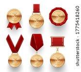 bronze medals in different... | Shutterstock .eps vector #1775418260