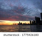 New York Harbor At Sunset...