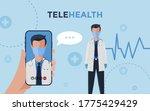 telehealth vector banner ...   Shutterstock .eps vector #1775429429