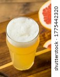 Small photo of Refreshing Boozy Grapefruit Radler Shandy in a Pint