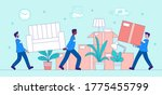 transport and removals concept...   Shutterstock .eps vector #1775455799