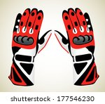 motorcycle gloves | Shutterstock .eps vector #177546230