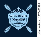 vector mountain river kayak... | Shutterstock .eps vector #1775475989