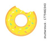 yellow donut vector isolated on ... | Shutterstock .eps vector #1775482343