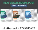real estate social media... | Shutterstock .eps vector #1775486639