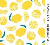 bright colorful lemons vector... | Shutterstock .eps vector #1775496926