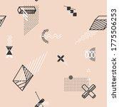 stylized geometric primitive ... | Shutterstock .eps vector #1775506253