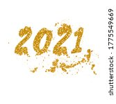 golden happy new year 2021 with ... | Shutterstock .eps vector #1775549669