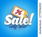 3d banner sale label   ... | Shutterstock .eps vector #1775556203