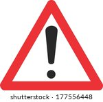 red triangle  attention sign ... | Shutterstock .eps vector #177556448