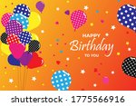 colorful happy birthday... | Shutterstock .eps vector #1775566916