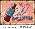 cold drinks rusty metal plate ...   Shutterstock .eps vector #1775589686