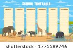 School Timetable With African...