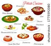 polish cuisine food  poland... | Shutterstock .eps vector #1775592080