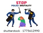 stop police brutality two... | Shutterstock .eps vector #1775612990