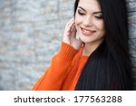 attractive young woman in... | Shutterstock . vector #177563288