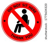 do not sit here signage for...   Shutterstock .eps vector #1775634320