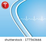 abstract medical background   ... | Shutterstock .eps vector #177563666