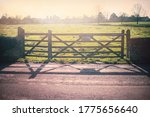 Scenic View Of Wooden Gate On ...