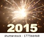 happy new year 2015 | Shutterstock . vector #177566468