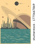 city of future  alien planet... | Shutterstock .eps vector #1775667869