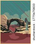 alien planet landscape ... | Shutterstock .eps vector #1775670833