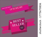 sale discount icons. special... | Shutterstock .eps vector #1775670836