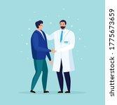 doctor taking care of patient... | Shutterstock .eps vector #1775673659