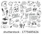 Set Of Graffiti Doodle  Punk...